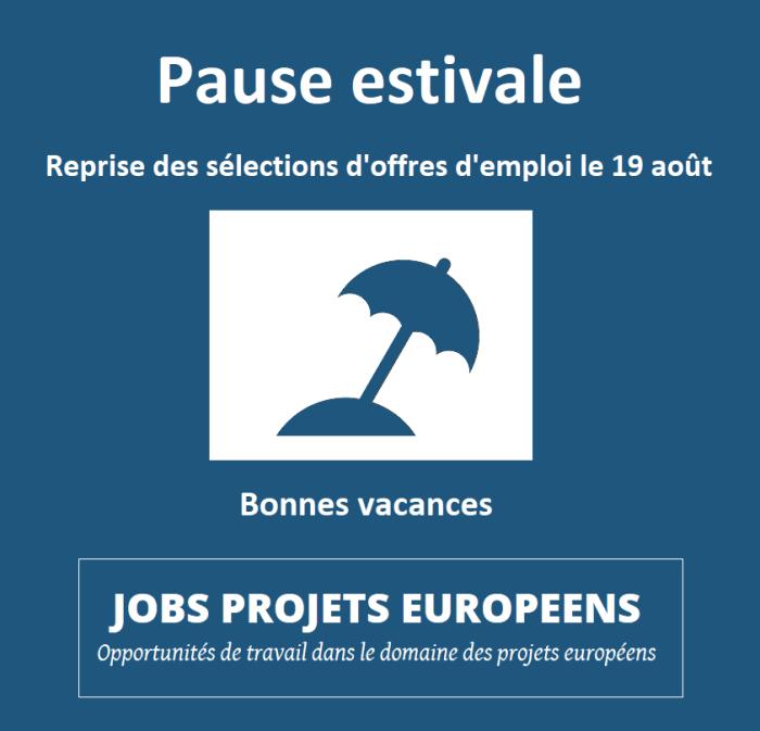 Projets européens Vincent ARNOUX Pause estivale