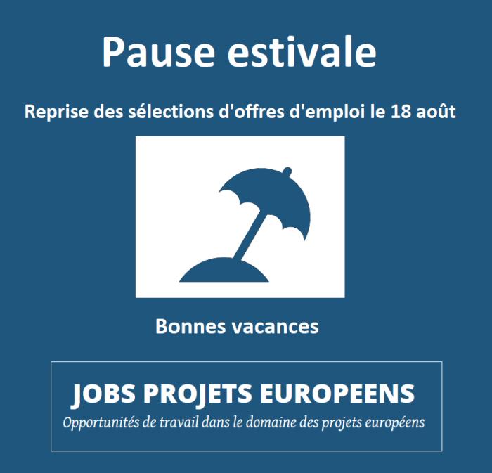 Projets européens Vincent ARNOUX Pause estivale 2019